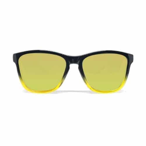 Gule wayfarer solbriller forfra