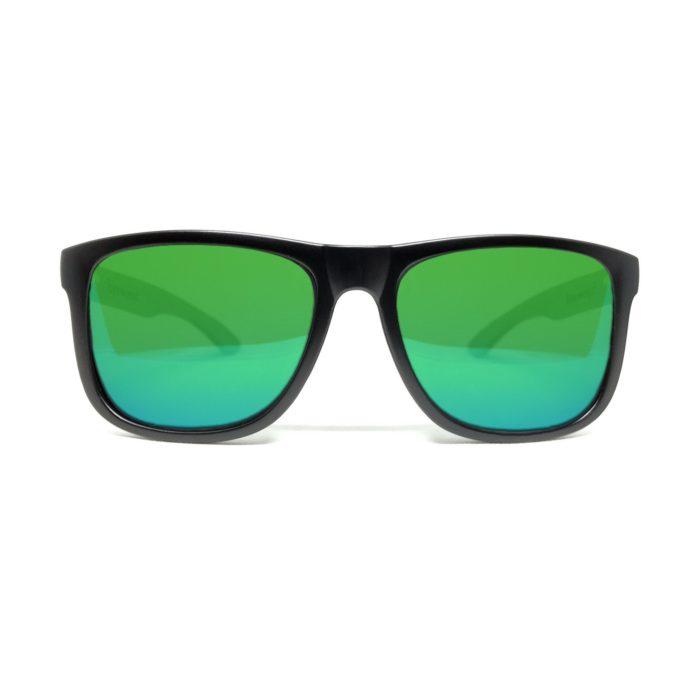 grønne solbriller af træ