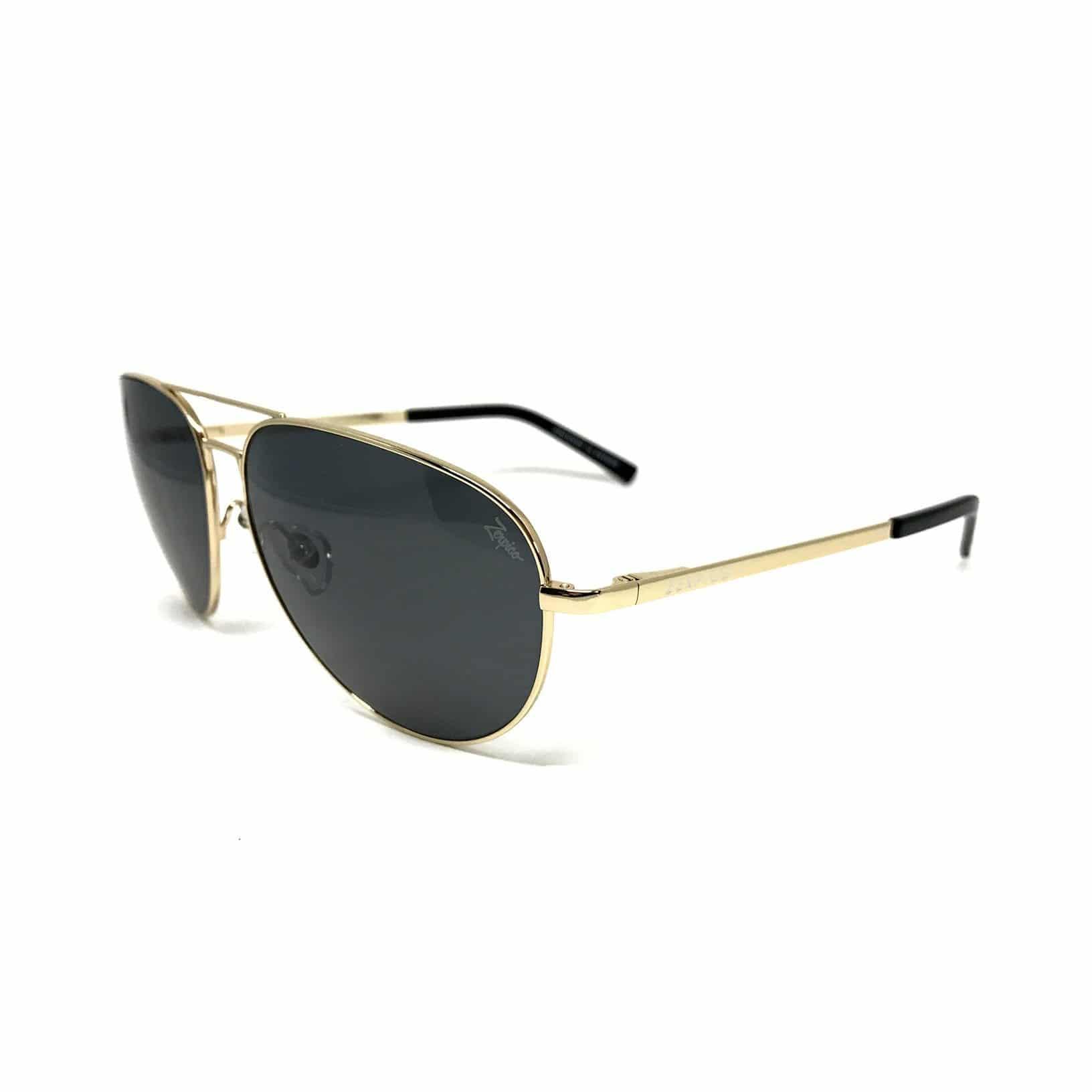 Zerpico TITAN Aviator Gull Titanium Solbriller | Kjøp Gull Solbriller Her