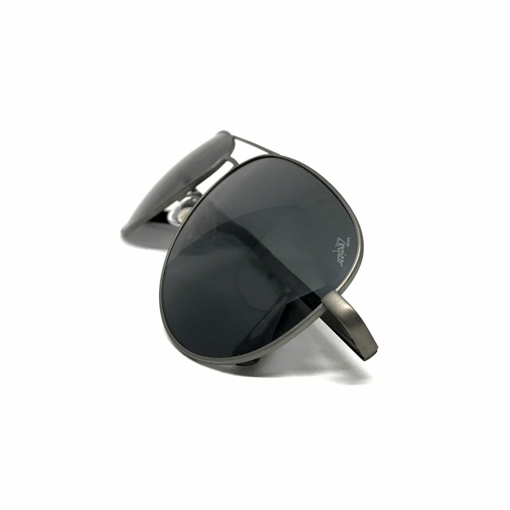 Titanium solbriller aviator sølv